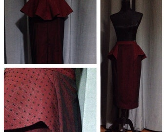 Maroon tulle dotted skirt