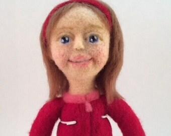Joy, a needle felted doll