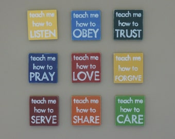 Teach Me How To Signs, Children's Room Decor, Playroom Decor, School Room Decor, Hand Painted Wooden Signs, Nursery Decor