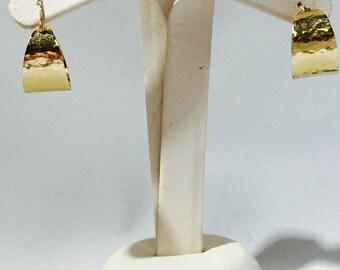 James Avery Gold Hammered Hoop Earrings