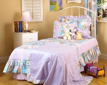 Purple Floral Queen Bedding Set