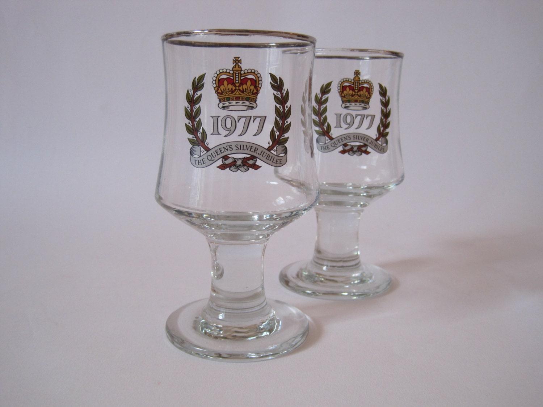 Queens Silver Jubilee Glass
