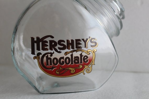 Vintage Hershey S Chocolate Candy Container Jar