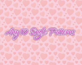 Choose Any 10 Single Patterns