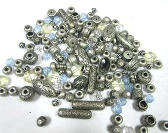 Mixed Assortment of Aluminum, Metal, and Acrylic Beads (3oz)