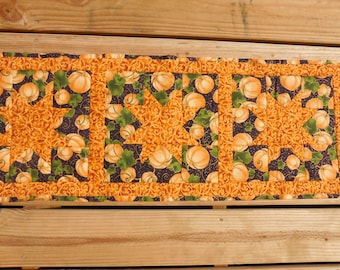 Hand quilted Fall table runner