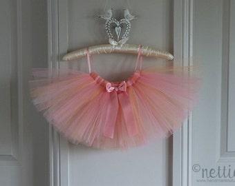 Girls pink and peach tutu skirt