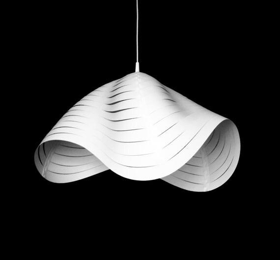 White Hanging Lamp Shades DIY Pendant Light By SmallbigDesign