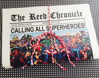 Superhero Invitations 12pk