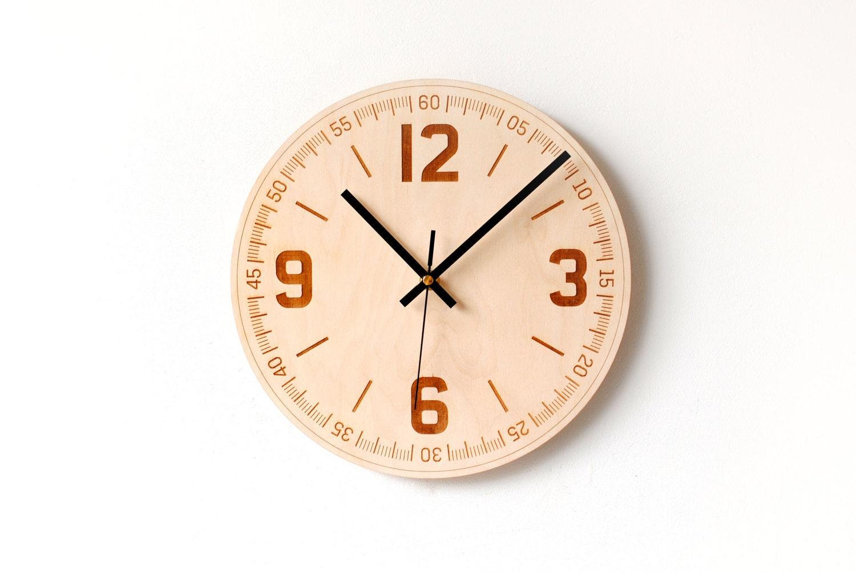 Wood Wall Clock Wooden Clock Simple Wall Clock Large