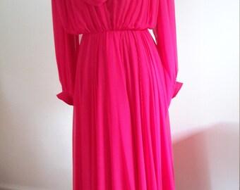 Vintage Bright Pink Dress.  Gorgeous!