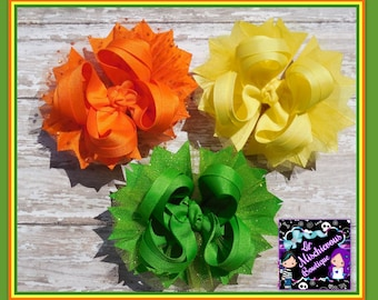 Solid Color OTT Bows ( set of 3 )