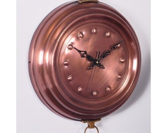 Copper Clock - Created from a copper cook pan