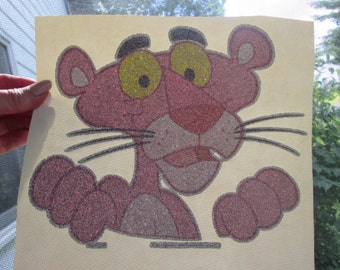 Pink Panther iron on decal,true vintage