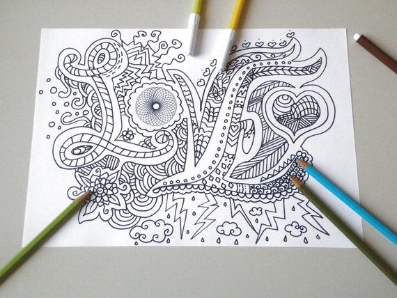 Amore colorare san valentino adulti bambini di lasoffittadiste for Disegni da colorare tumblr