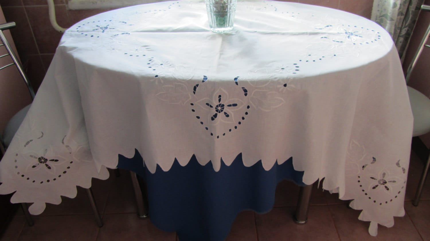 Vintage Lace White Large Rectangular Tablecloth, lace doily, table rectangular d