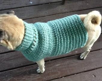 La Jolla, Wool Dog Sweater, Dog Sweater, small dog sweater, dog sweaters, wool dog sweaters, green dog sweaters, small dog sweaters