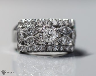 Circa 1948 Vintage Ring - Celebration Antique Diamonds ATL #195