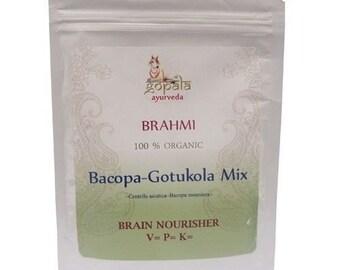 Brahmi Gotukola Powder (USDA Certified Organic) - Gopala Ayurveda