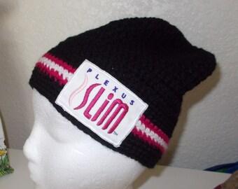 Black Slightly Slouchy Plexus Hat