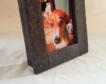 1x Hand-made Wooden Picture Frame Reclaimed Lath Board 4 x 6