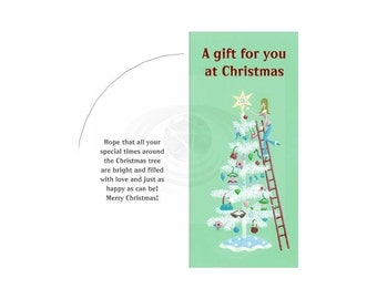 Christmas Tree Money Card Template Plus Envelope Printable PDF Instant Download