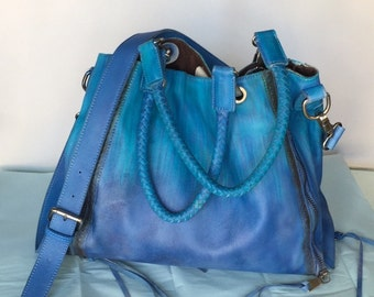 Hand Dyed Leather Bag
