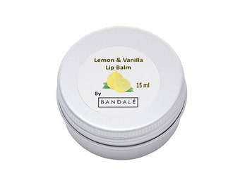 Lemon and Vanilla Lip balm