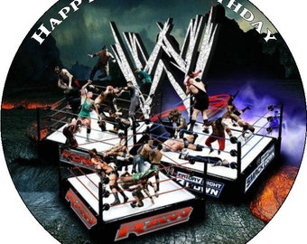 """WWE Personalised Pre Cut Icing/Rice Paper Cake Topper 7.5"""""""