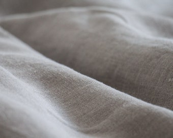 Natural GRAY linen fabric by the yard, European linen by yard, 100% linen fabric by the yard