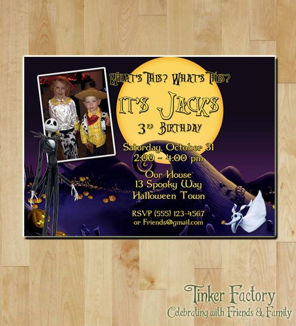 Nightmare Before Christmas Birthday Party: The Nightmare Before Christmas Birthday Party Invitation