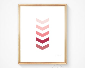 Chevron wall decor, Scandinavian art, geometric print, chevron art, printable art, chevron print, nursery art, downloadable print, chevron