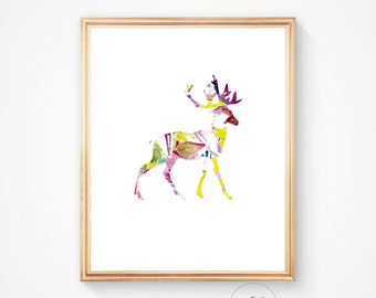 Watercolor print, Deer print, Deer art, Watercolour painting, Wall art, Watercolor art, Watercolor poster, Painting, Watercolor print art