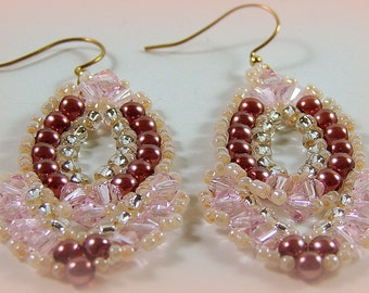A Night on the Town Earrings - Pink Ruffles