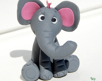 Baby Elephant figure, polymer clay