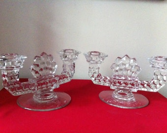 REDUCED PRICE! Fostoria Candleholders