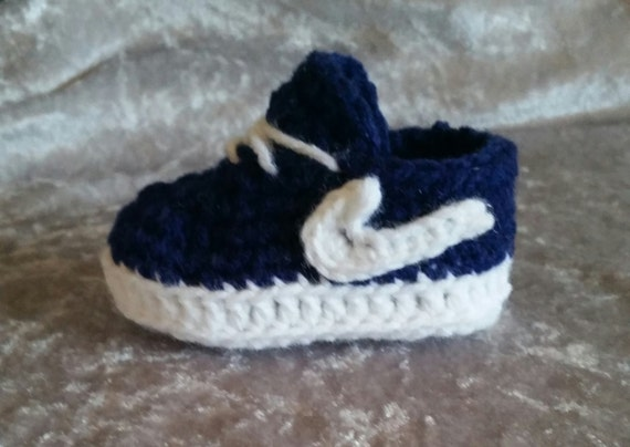 Baby Nike shoes, crochet baby Nikes, baby tennis shoes, baby booties ...