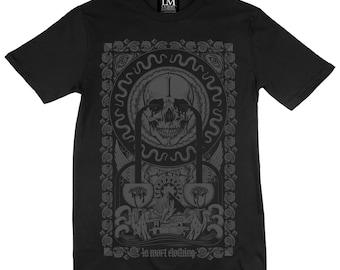 Rivers of Blood Pharoah T-shirt - Charcoal on Black