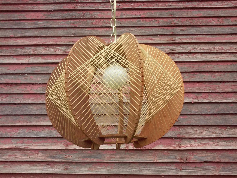 Vintage String Art Lamp Swag Lamp Retro Hanging Lamp String