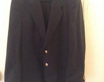 Jacket Blazer blue Marine Hill & Archer buttons gold 44
