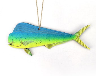 Dolphin Fish, Mahi Mahi, Dorado, Christmas Ornament