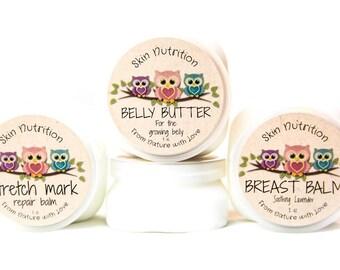 Belly Butter//Pregnant Belly Butter//Growing Belly Butter//Growing Belly//Stretching Skin//Whipped Butter//Organic Butter//All Natural