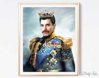 Freddie Mercury - Queen - Portrait - Illustration - Art Print - Fan Art