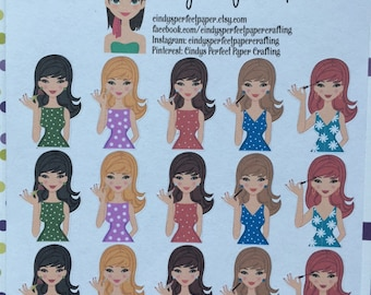 Make Up Glam Girl for your Life Planner