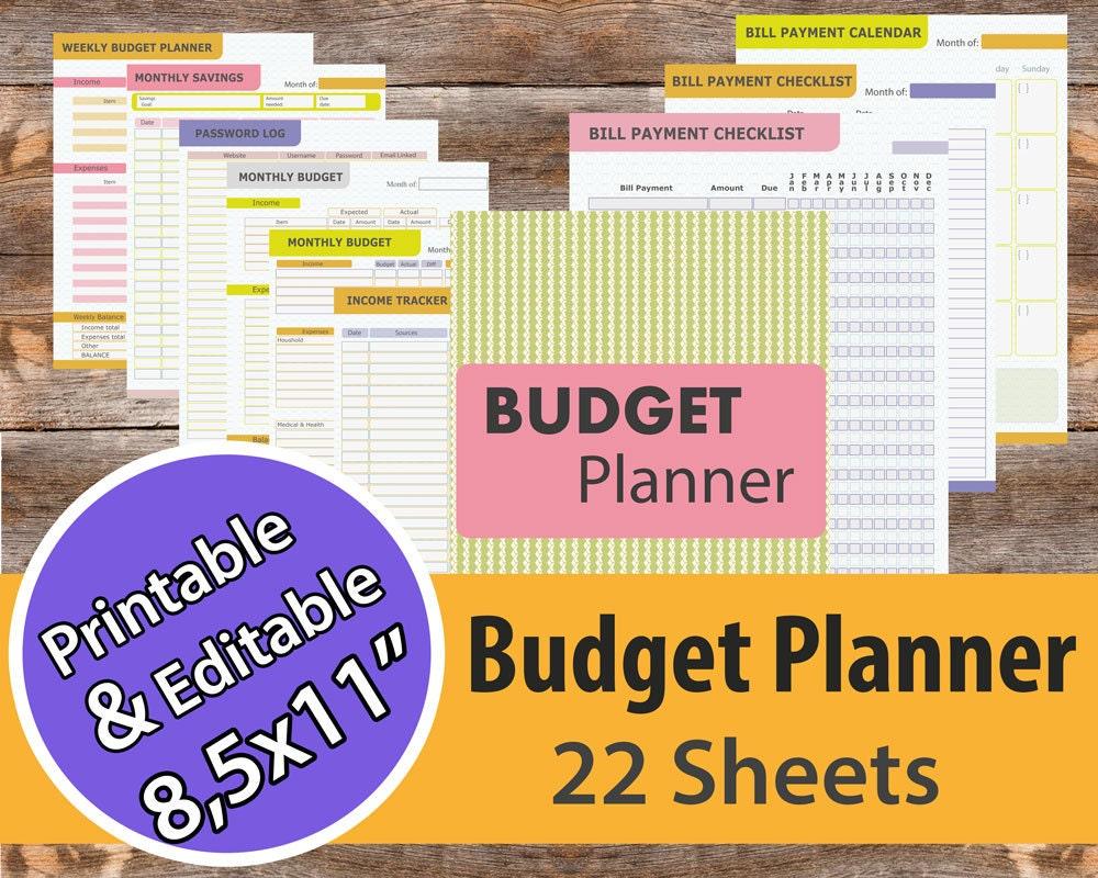 Budget Planner Bill organize Financial planner Bill