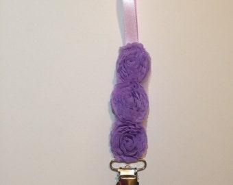 Lavender Binky Clip