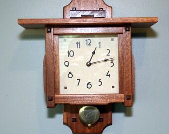 Greene & Greene Lantern Pendulum Wall Clock