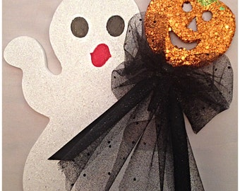 Hand Painted Ghost Hanging