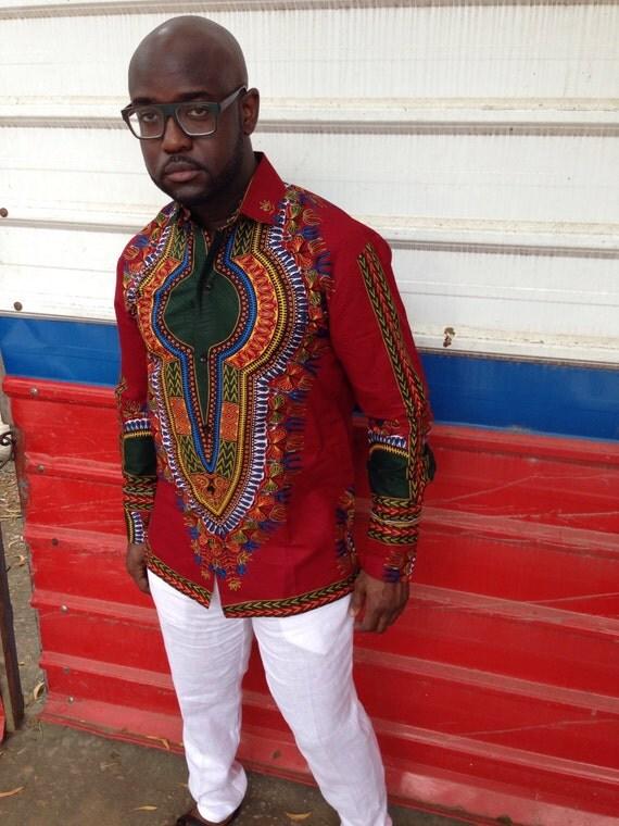 Dashiki Shirt African Print Shirt By Bongolicious1 On Etsy c0229afb3