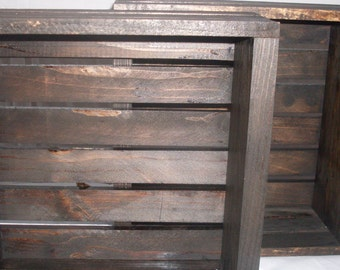 Dark Walnut Crates Set of 2
